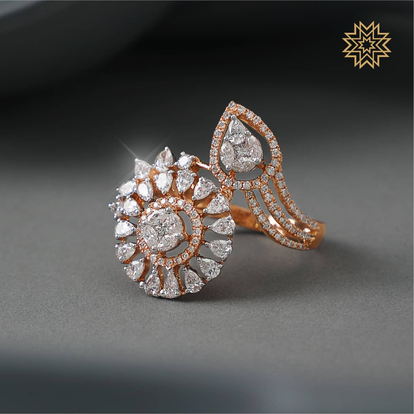 Manubhai Real Diamond Ring