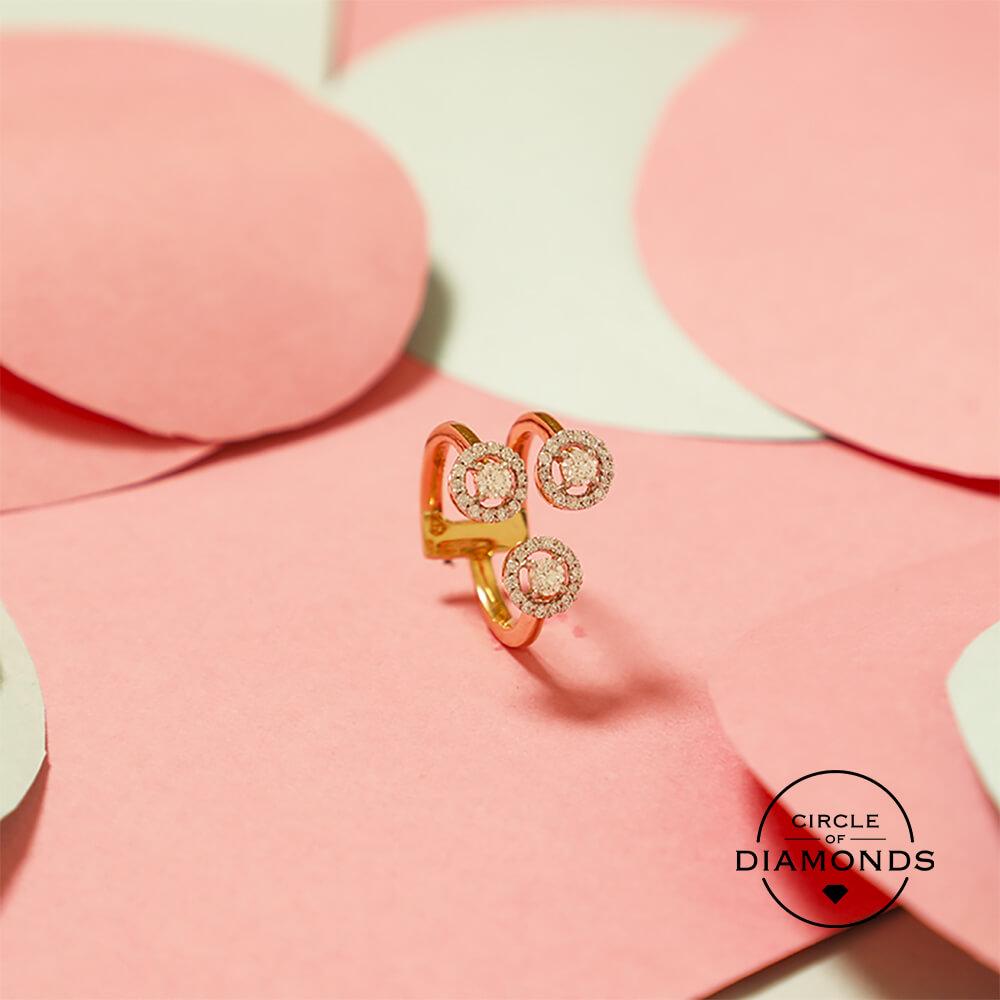 Manubhai Real Diamond Ring