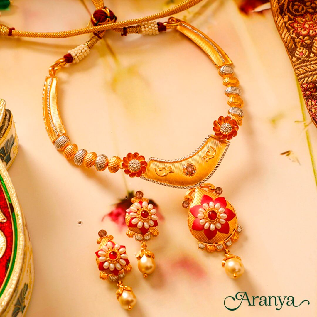 Drawn to these colourful & unique🌻🌺       OR        Floral motif, pearls & antique finish = Divinity 💛💛