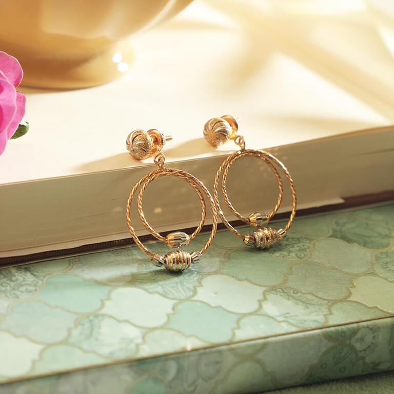 Manubhai Gold Earrings