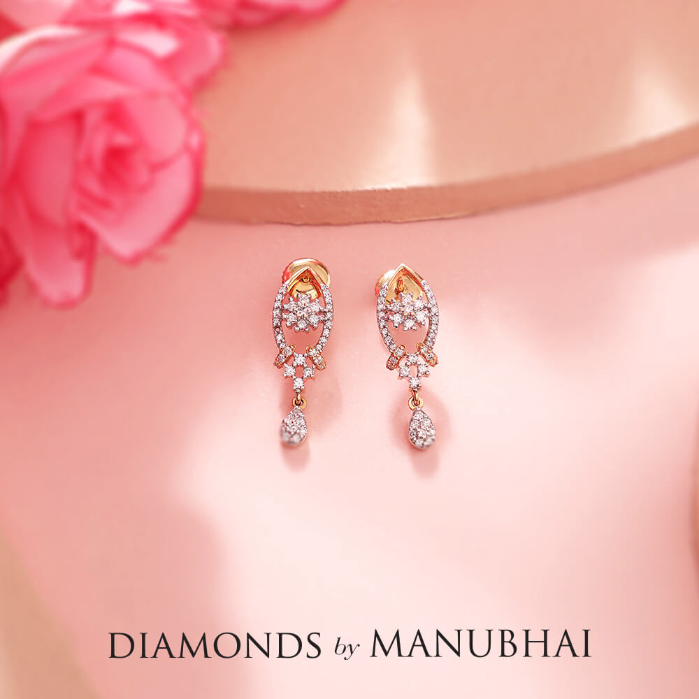 Manubhai Real Diamond Earrings