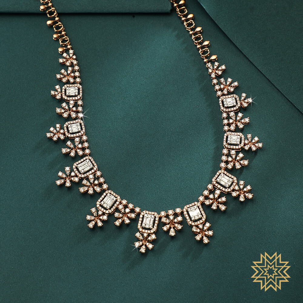 An edgy string of diamonds: our suggestion for the new bride