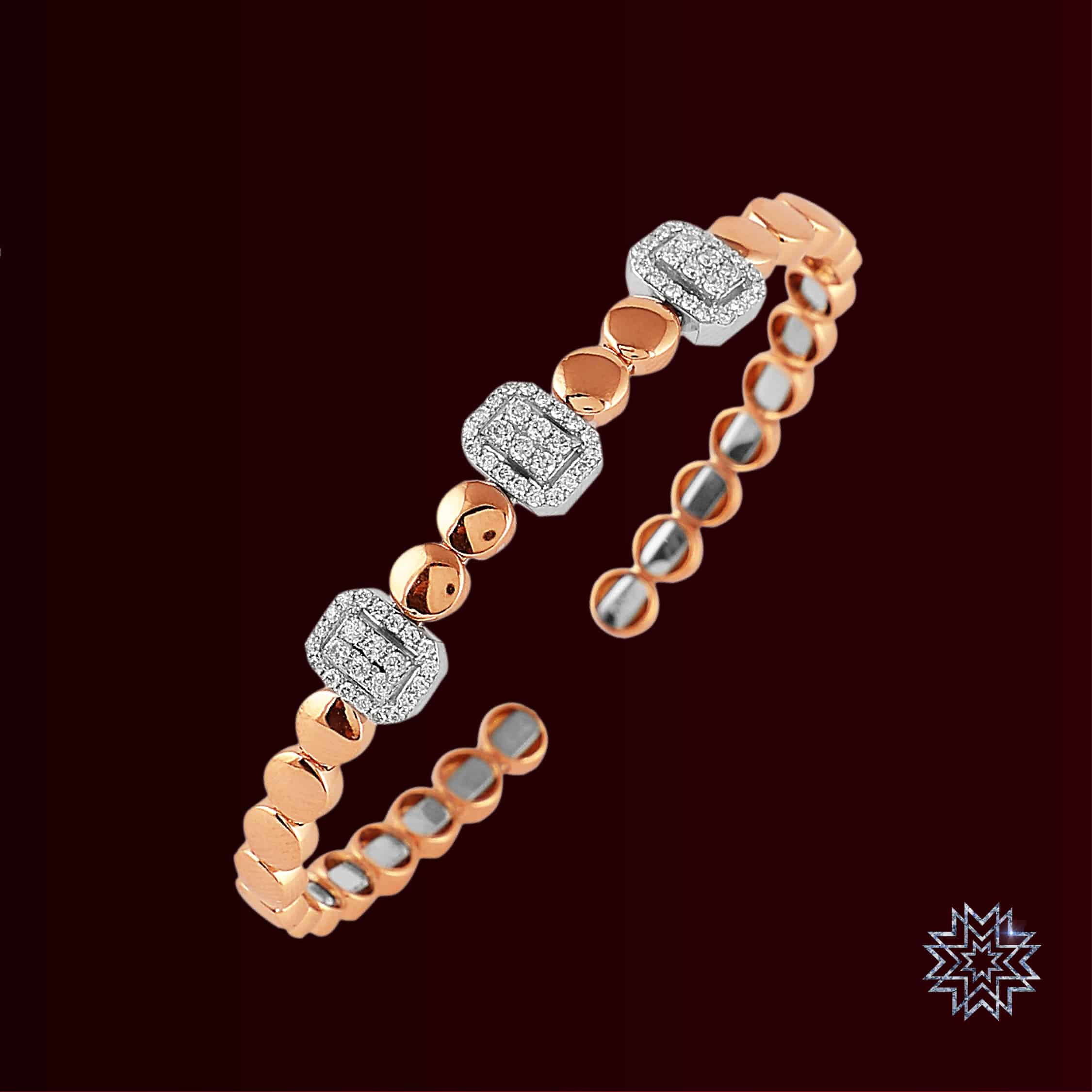 A woman of class is a class apart. Stylish bracelets fabricated for the diva in you!