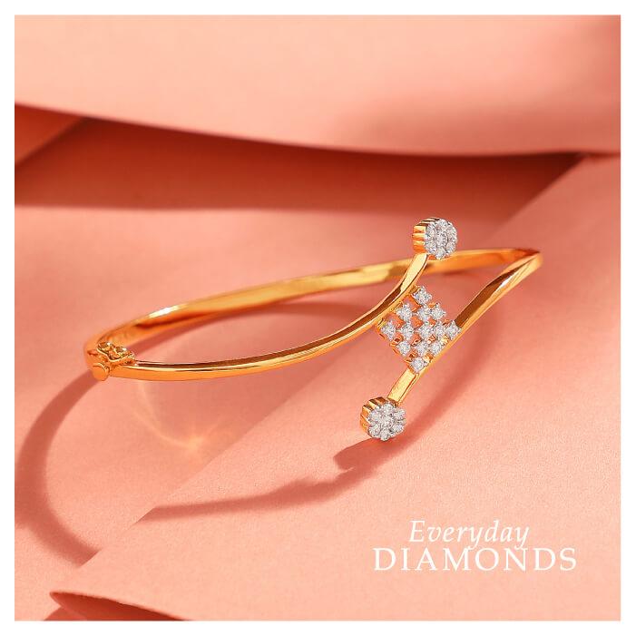 Manubhai Real Diamond Bangle