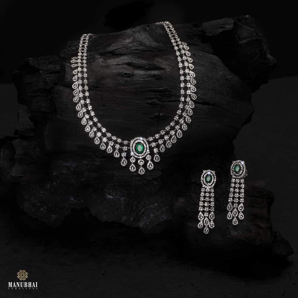 Manubhai Real Diamond Set