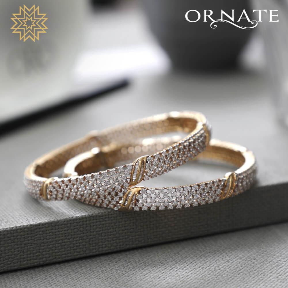 Latticed round diamond bangles! (pre-app)