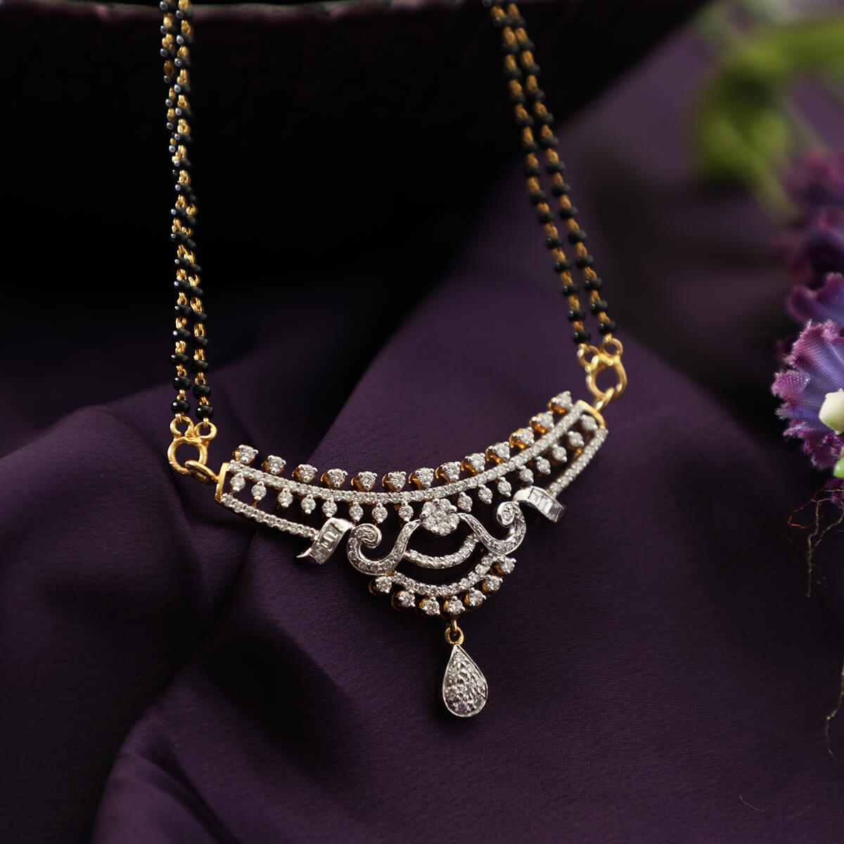 Manubhai Real Diamond Mangalsutra