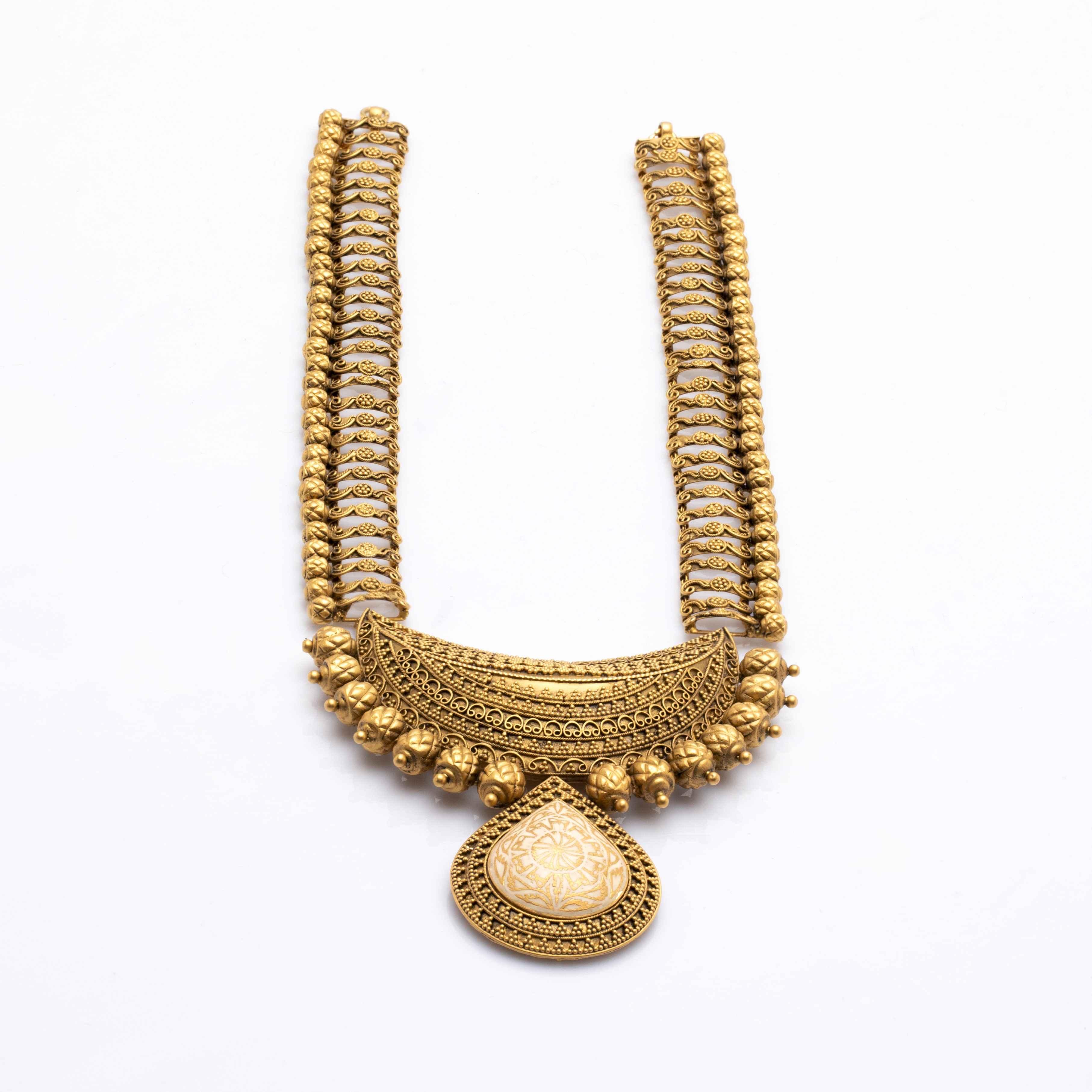 Manubhai Antique Gold Earring