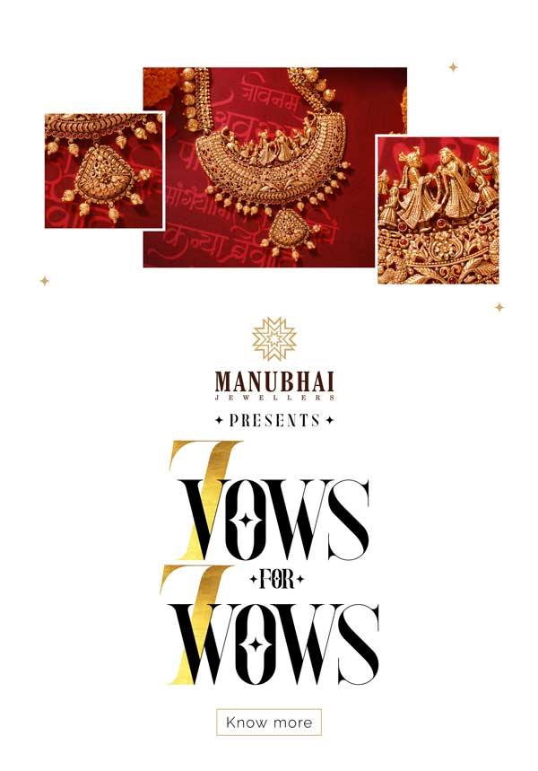 A wow wedding jewellery shopping awaits you at Manubhai Jewellers