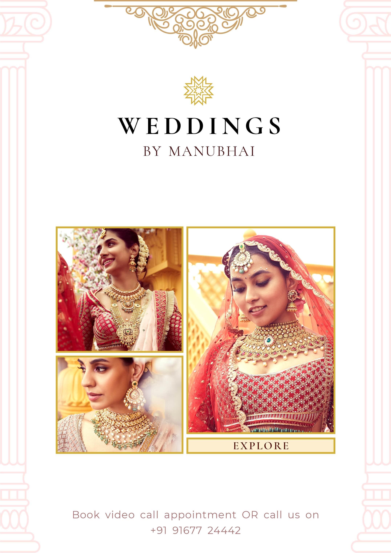 A wow wedding jewellery shopping awaits you at Manubhai Jewellers